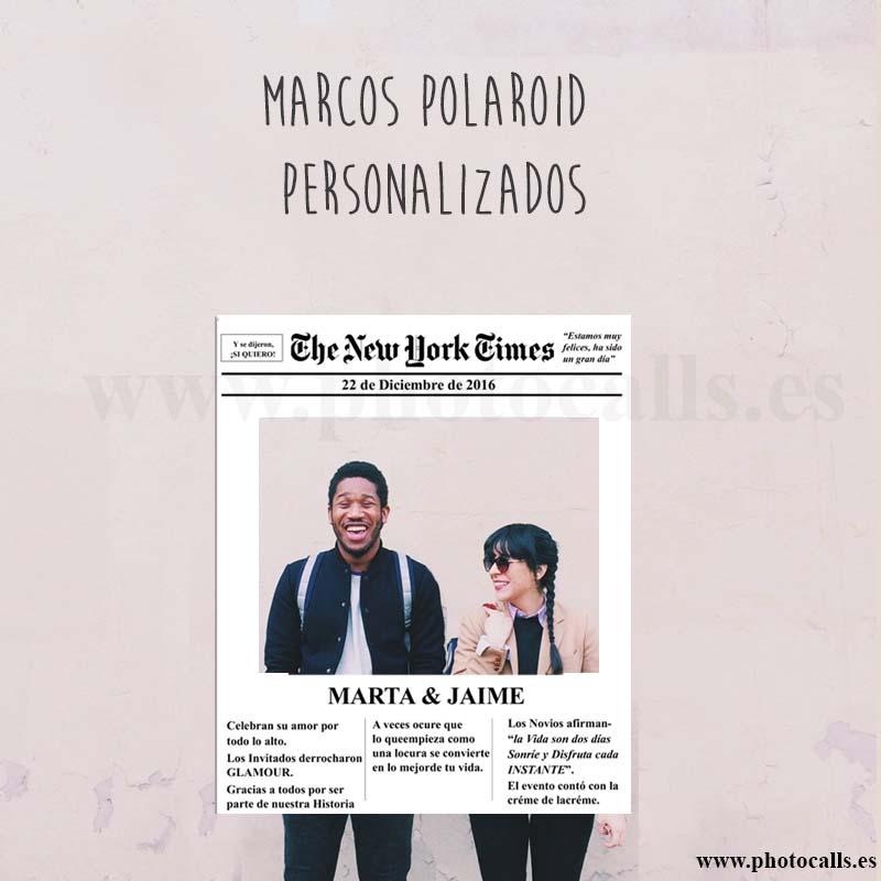 8 Diseños de Marcos Polaroid para Fiestas - Photocalls y Atrezzo