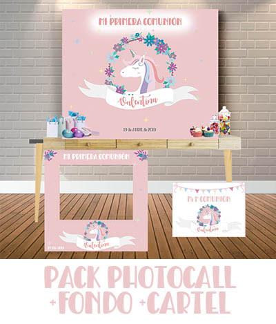 Pack photocall fondo cartel de bienvenida