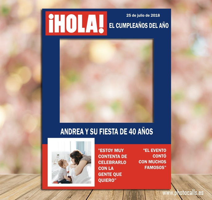 Marco Revista Hola Personalizable 100% para ti