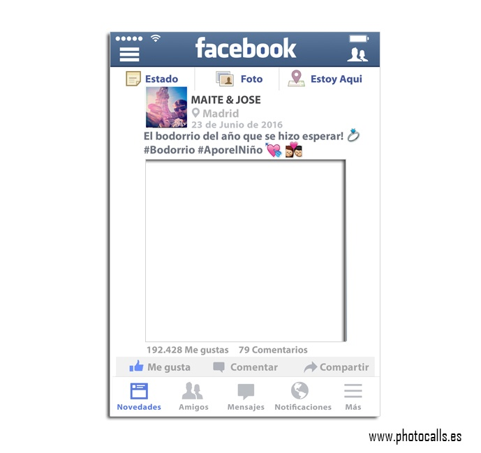 Marco facebook personalizable 100 para ti for Marco 100x70