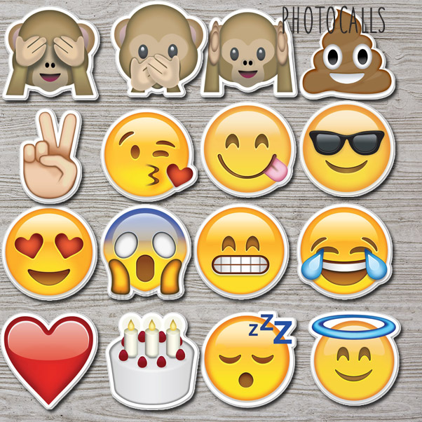 Atrezzo emoticono pack 1 pack accesorios para photocall y for Emoticones para instagram