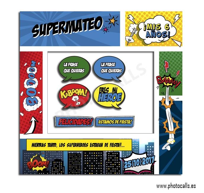 Marco Superhéroes Fiestas Infantilespersonalizable 100