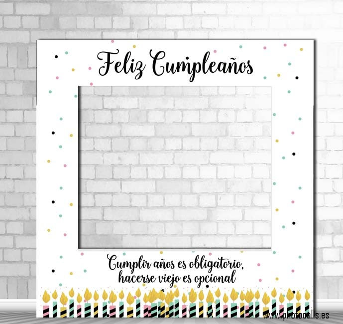 Comprar marco photocall cumpleaños, fiesta, eventos.