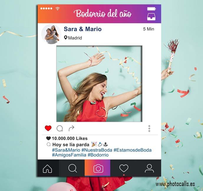 Marco Instagram Rainbow - Photocalls y Atrezzo