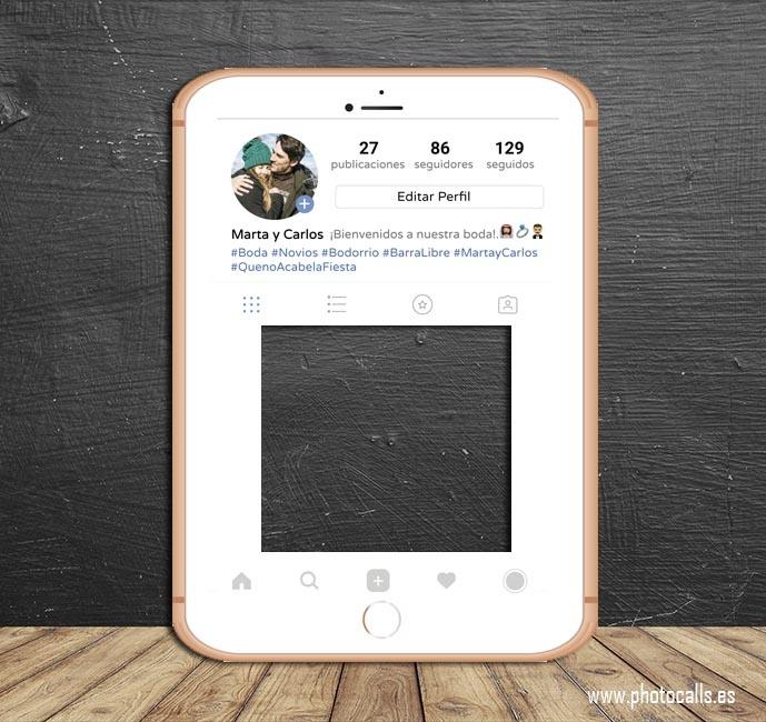 Marco Instagram móvil - Photocalls y Atrezzo