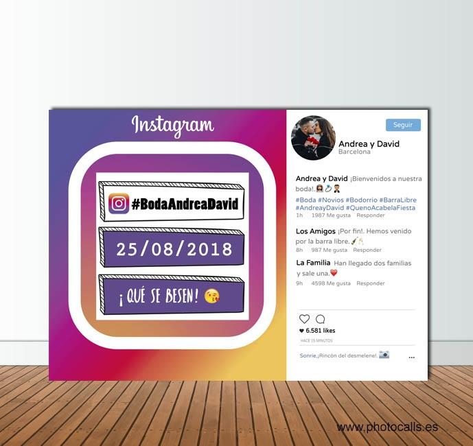 Marco Instagram horizontal rainbow , úsalo como photocall